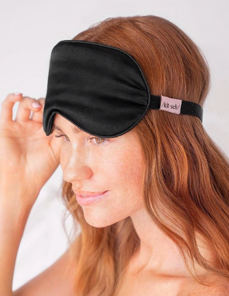 KITSCH - Black Satin Eye Mask