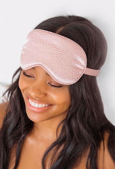 KITSCH - Micro Dot Satin Eye Mask