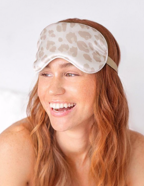 KITSCH - Leopard Satin Eye Mask