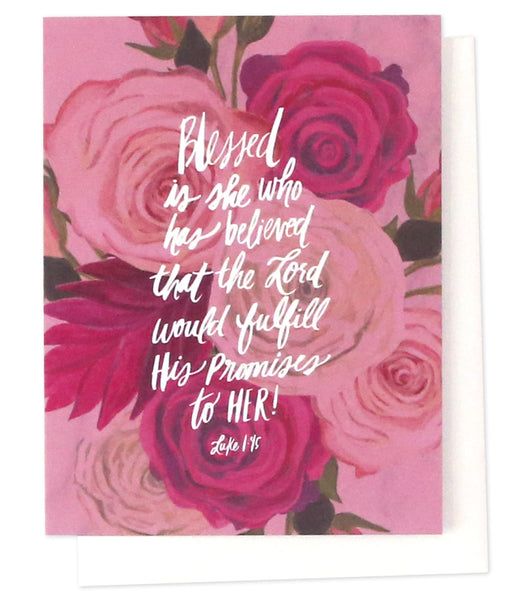 Thimblepress - Blessed Is She Verse Greeting Card