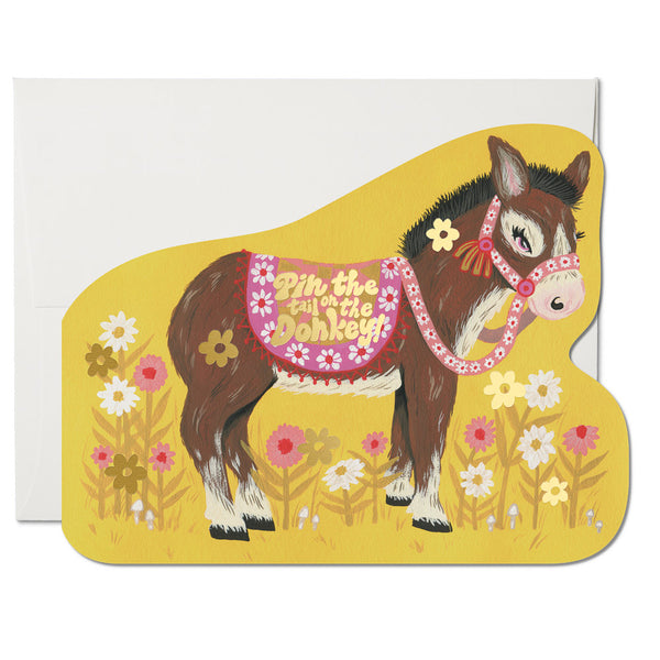 Red Cap Cards - Pin the Tail Donkey