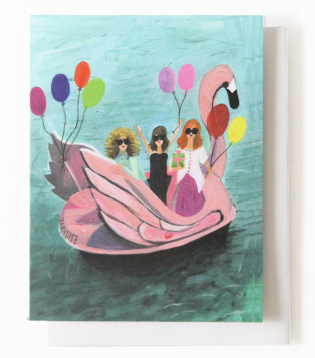 Thimblepress - Boat Party Greeting Card