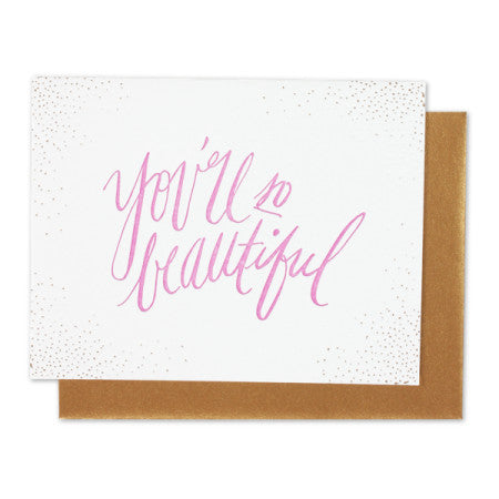 Thimblepress - You Are So Beautiful Single Card