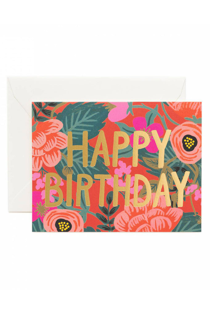 Rifle Paper Birthday Cards Sloth Belated