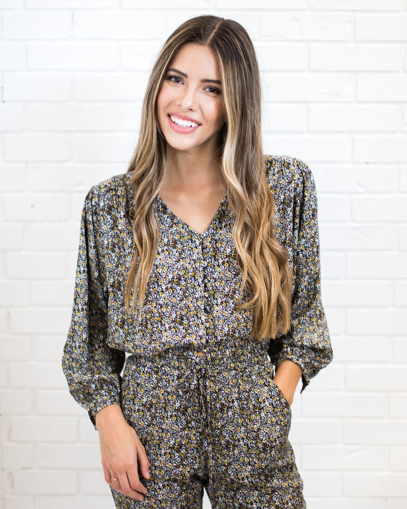 Bethany Vintage Print Blouse