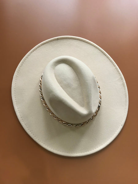 Chunky Chain Western Hat