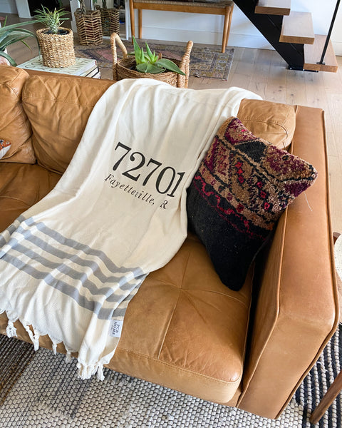 Home Town Zip Code Throw Blanket