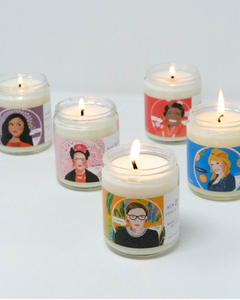 RBG Glass Jar Candle | STORE PICK UP ONLY!