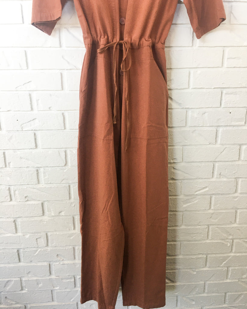 Washed Boiler Jumpsuit