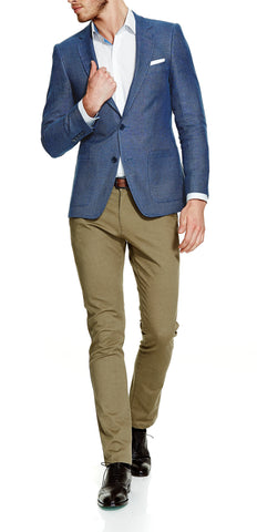Lucca Ocean Blue Sports Jacket