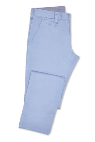 Japanese Stretch Cotton Pant - Soft Blue