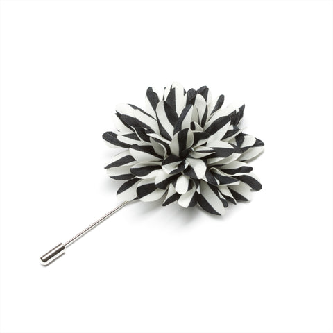 Black & White Lapel Pin
