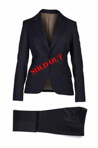 Valerie Superfine Black Wool Suit