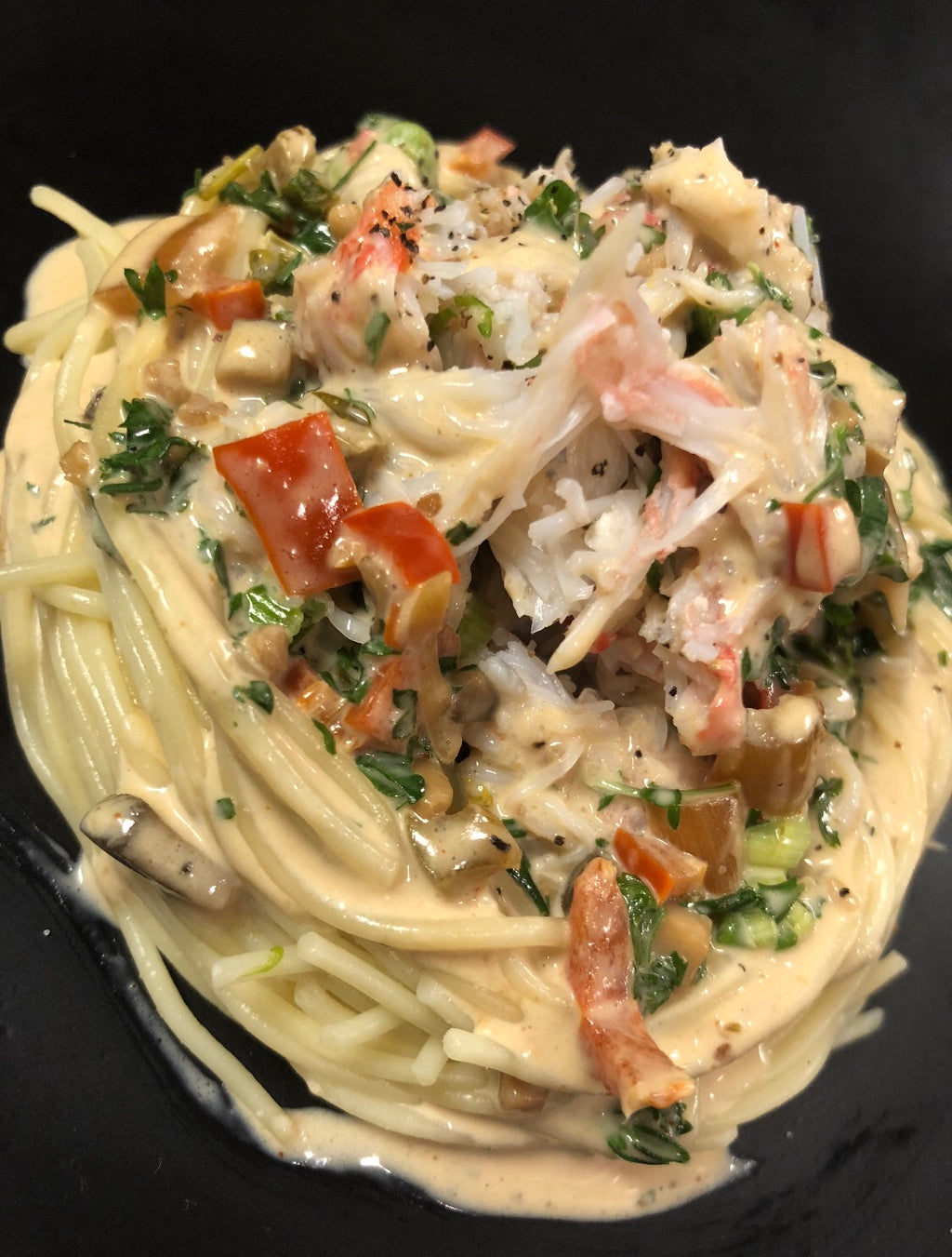 Cracked Crab Angel Hair Pasta