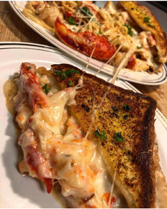 King Crab Garlic Bread Grilled Cheese Pasta