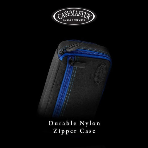 Image of Casemaster Plazma Plus Dart Case Black with Sapphire Zipper and Phone Pocket Dart Cases Casemaster