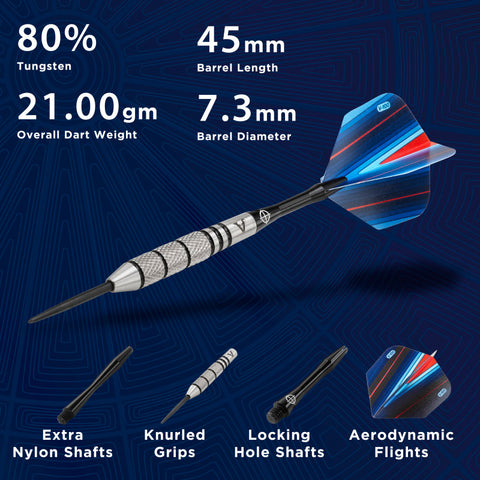 Image of Viper Sidewinder 80% Tungsten Steel Tip Darts 21 Grams