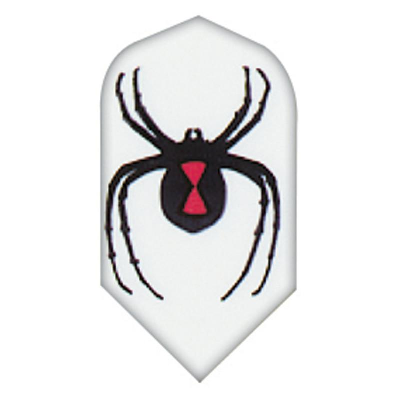 V-75 Poly Royal Hard Flights Slim Black Widow Spider Dart Flights Viper
