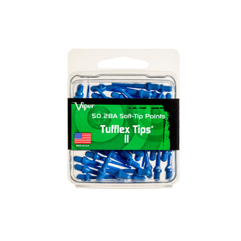 Image of Viper Tufflex Tips II 2BA Blue 50Ct Soft Dart Tips Dart Tips Viper