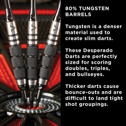 Viper Desperado Tungsten Iron Cross Soft Tip Darts 3 Knurled Rings 18 Grams