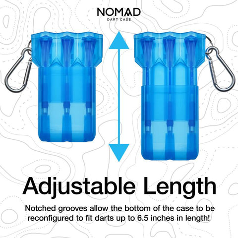 Casemaster Nomad Adjustable Dart Case Neon Blue