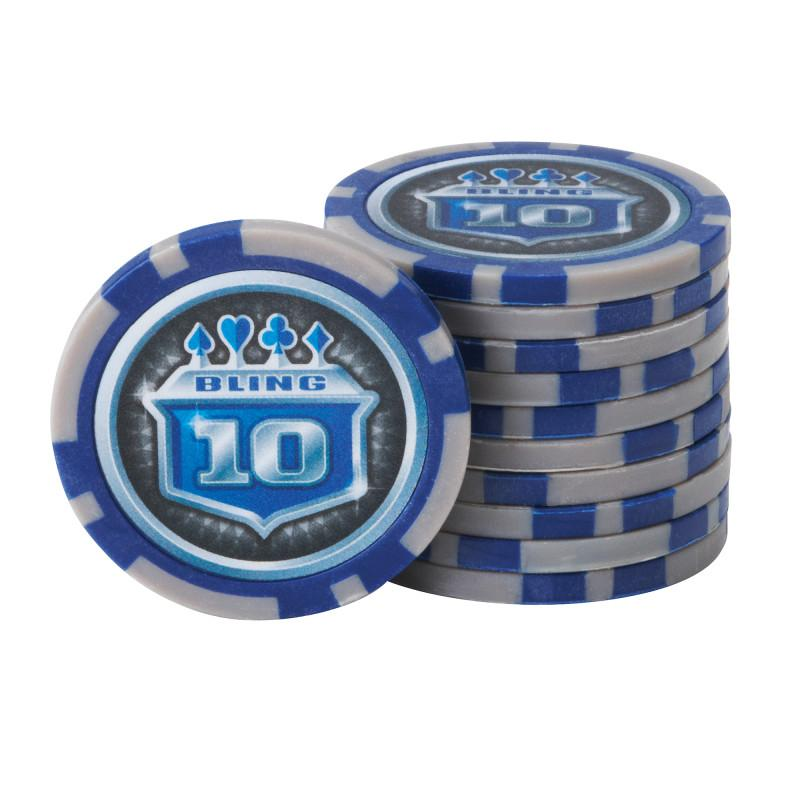 Fat Cat Bling 13.5 Grams 500Ct Poker Chip Set Casino Accessories Fat Cat