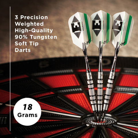 Viper Element Tungsten Soft Tip Darts Knurled Barrel 18 Grams