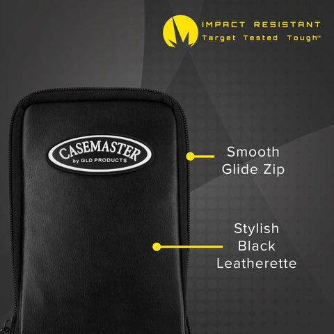 Casemaster Mini Pro Black Leather Dart Case