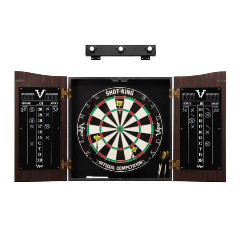 Image of Viper Vault Cabinet with Shot King Sisal Dartboard & Shadow Buster Dartboard Lights