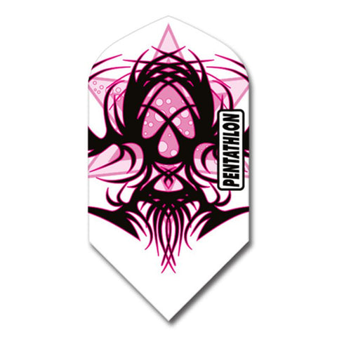 Pentathlon Slim Pink/White/Black Design Flights Dart Flights Viper