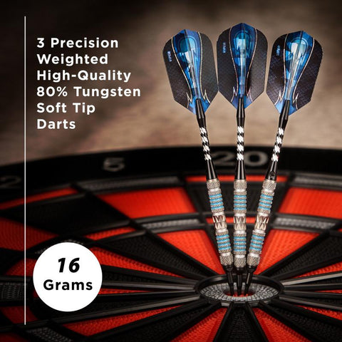 Viper Astro Darts 80% Tungsten Soft Tip Darts Blue Rings 16 Grams Soft-Tip Darts Viper