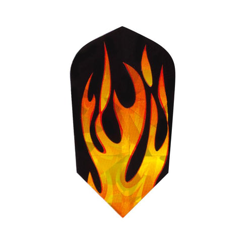 2-D Glitter Flights Slim Orange Flame