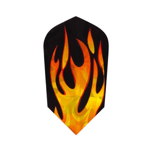 V-Lux Glitter Flights Slim Orange Flame Dart Flights Viper