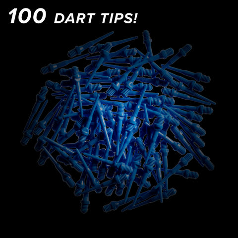 Viper Tufflex Tips II 2BA Blue 100Ct Soft Dart Tips