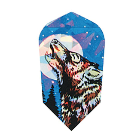 2-D Glitter Flights Slim Wolf