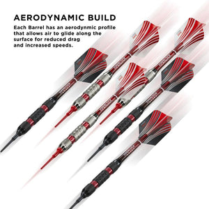 Casemaster Sentry Dart Case and Two Sets of Viper Soft Tip Darts 18 Grams Red
