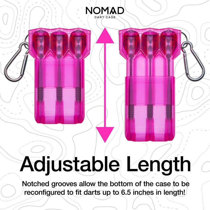 Casemaster Nomad Adjustable Dart Case Neon Pink Dart Cases Casemaster