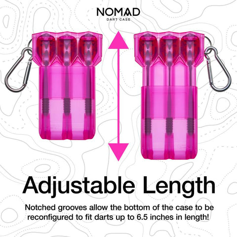 Image of Casemaster Nomad Adjustable Dart Case Neon Pink Dart Cases Casemaster