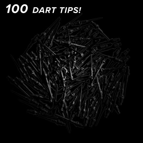 Viper Tufflex Tips II 2BA 100Ct Soft Dart Tips Black