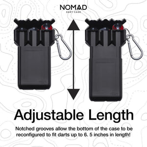 Casemaster Nomad Adjustable Dart Case Black Dart Cases Casemaster