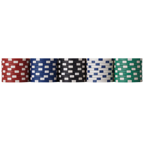 Image of [REFURBISHED] Fat Cat 500Ct Texas Hold'Em Dice Poker Chip Set Refurbished Refurbished GLD Products