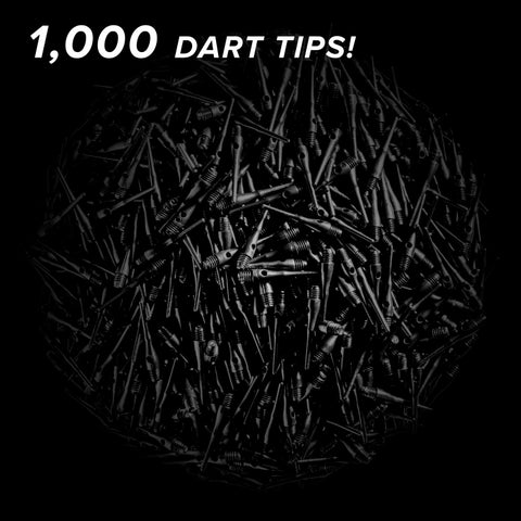 Viper Tufflex Tips III 2BA 1000Ct Soft Dart Tips Black