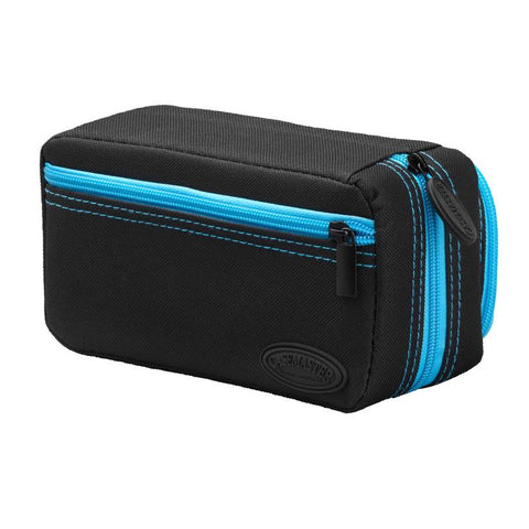 Casemaster Plazma Pro Dart Case Black with Blue Zipper and Phone Pocket