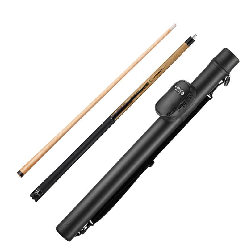 Viper Naturals Birdseye Cue and Casemaster Q-Vault Supreme Black Cue Case Billiards Viper