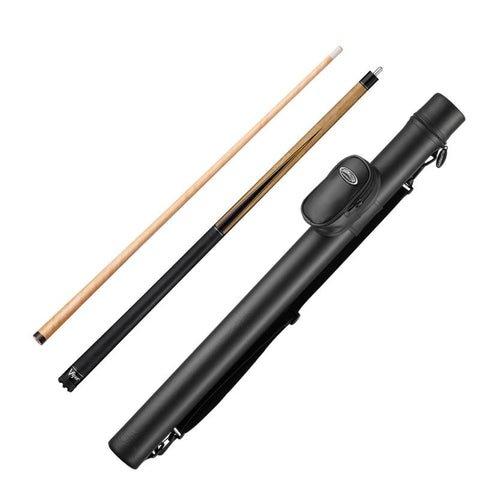 Image of Viper Naturals Birdseye Cue and Casemaster Q-Vault Supreme Black Cue Case