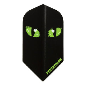 Pentathlon Slim Black Cat Flights Dart Flights Viper