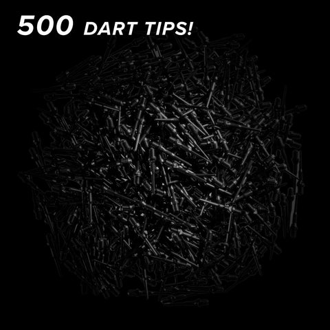 Viper Tufflex Tips II 2BA Black 500Ct Soft Dart Tips Dart Tips Viper