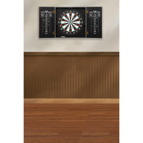 Image of Viper Hideaway Dartboard Cabinet with Reversible Traditional and Baseball Dartboard Dartboard Cabinets Viper