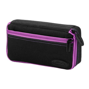 Casemaster Plazma Dart Case Black with Amethyst Zipper