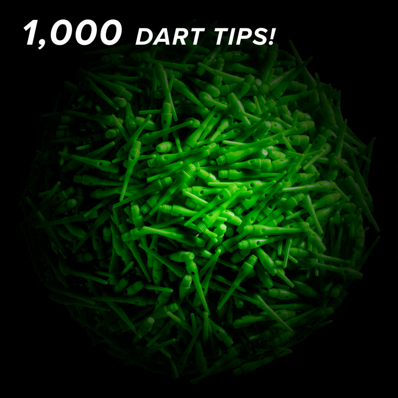 Viper Tufflex Tips III 2BA Green 1000Ct Soft Dart Tips Dart Tips Viper